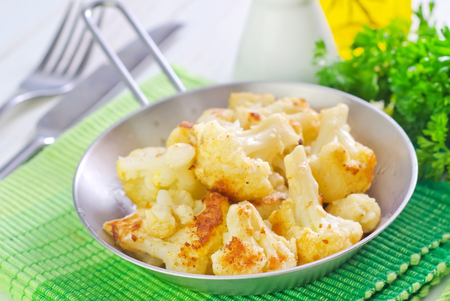 fried cauliflower with cheese photo