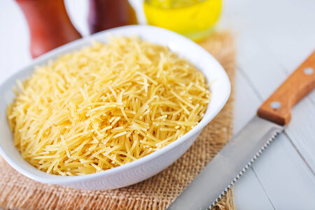 durum: raw pasta Stock Photo