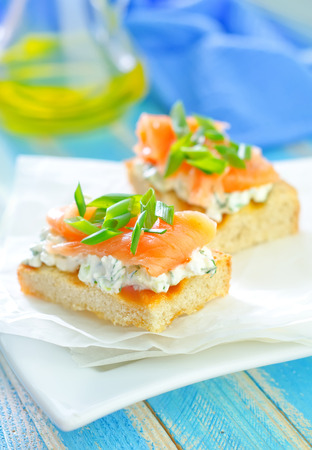 canape with salmon photo