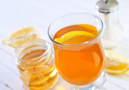 stimulated: tea with lemon Stock Photo