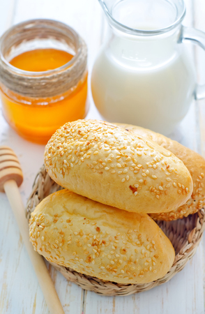 milk, honey and bread photo