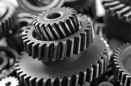 metal gears, nuts and bolts Reklamní fotografie