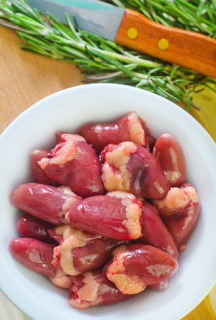 innards: chicken hearts