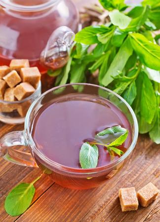 stimulated: mint tea Stock Photo