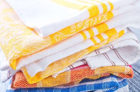 dishtowel: kitchen towels Stock Photo