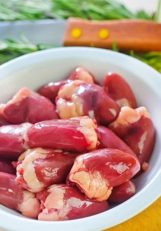 innards: chicken hearts