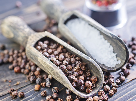 salt and pepper: pepper and salt Stock Photo