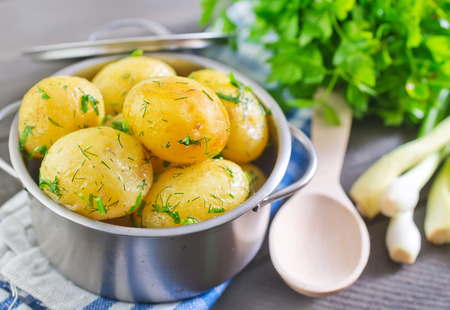 boiled potato photo