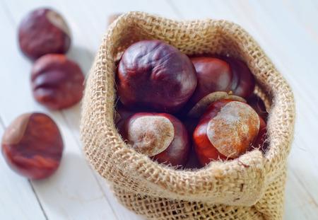 produce energy: chesnuts Stock Photo