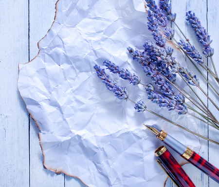lavender and note photo