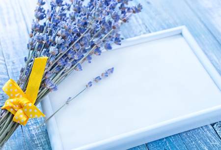 frame and lavender photo