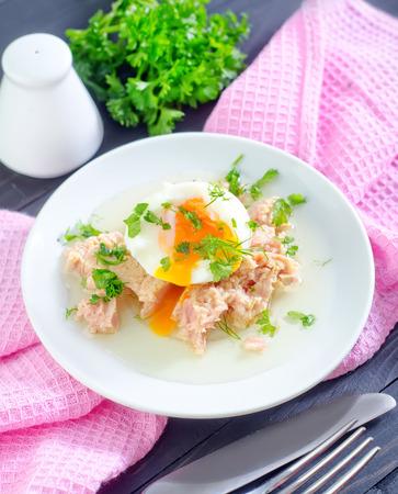 tuna and egg Banco de Imagens