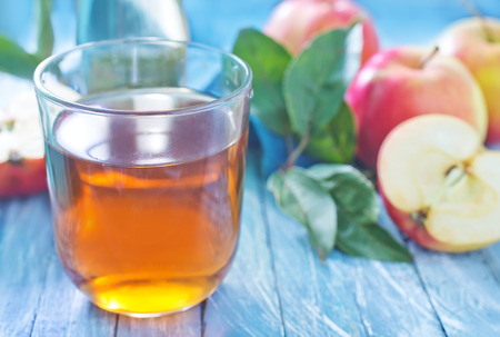 ewer: apple juice Stock Photo
