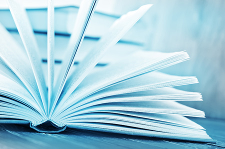 textboks: open book Stock Photo