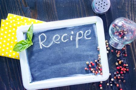 board for recipe photo