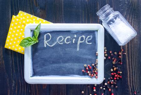 make a paste: board for recipe