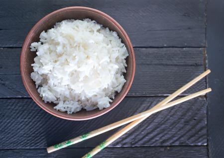 plato de comida: arroz hervido