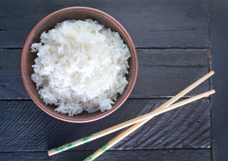asian food: boiled rice