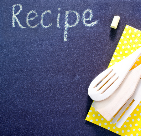 black board for recipe photo