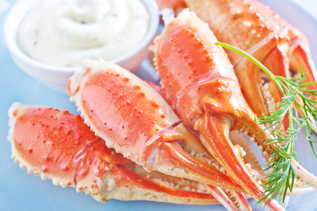 crab meat: crab claws