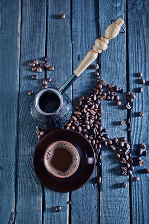 printed matter: coffee background, coffee on the wooden table