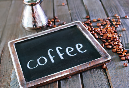 coffee background, coffee on the wooden table photo