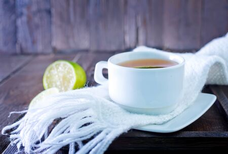 convalesce: fresh tea with lemon in the cup