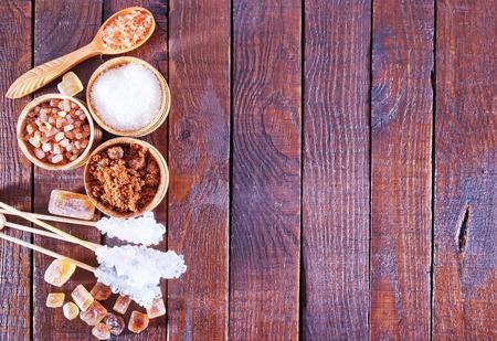 different kind of sugar on a table Reklamní fotografie
