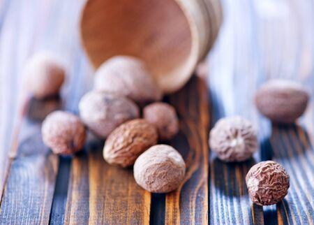 nutmeg: nutmeg on a table