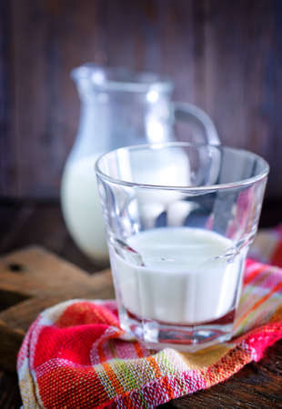 fresh milk in glass photo
