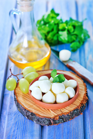 scamorza cheese: scamorza cheese in bowl and on a table