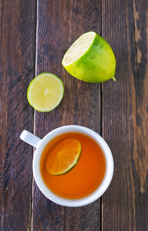 convalesce: fresh tea with lemon in white cup