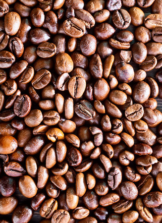 coffeetree: coffee background, coffee beans on a table