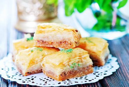 turkish ethnicity: sweet turkish desert with honey and nuts