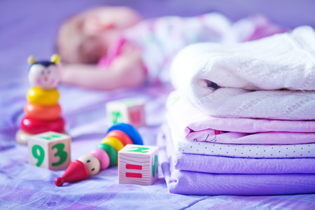 bedlinen: clear bed-linen for baby on the bad