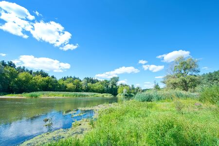 ukraine: river in Ukraine, old stream in Ukraine