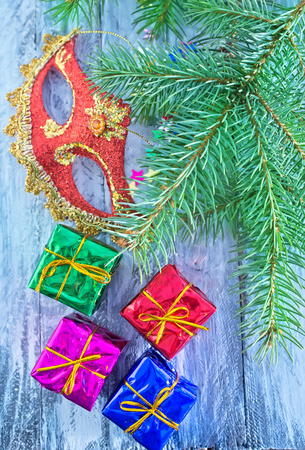 yule tide: christmas presents on a table