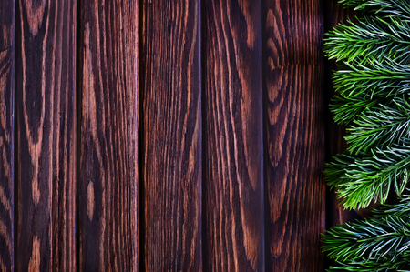 wood panel: background from christmas tree on wooden background