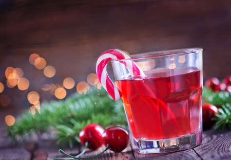 christmas drink: christmas drink in glass and on a table Stock Photo
