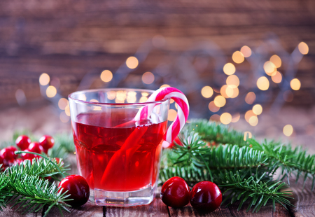 drinking: christmas drink in glass and on a table Stock Photo