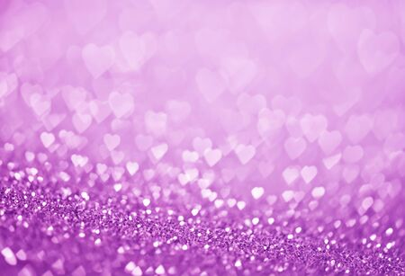 heart bokeh, colored bokeh, christmas and valentinas day background Stock Photo