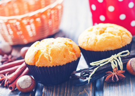 anis: sweet muffins with cinnamon and anis on a table