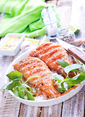 redfish: fried ocean perch with salt and spice Stock Photo