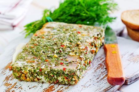 salty: lard with spice