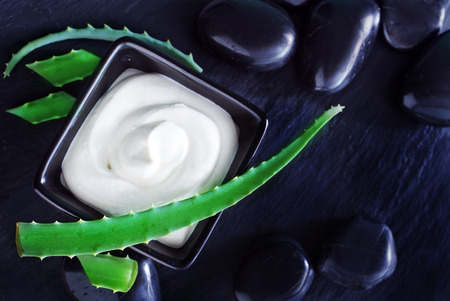 acemannan: Aloe Vera with Lotion Box on a table