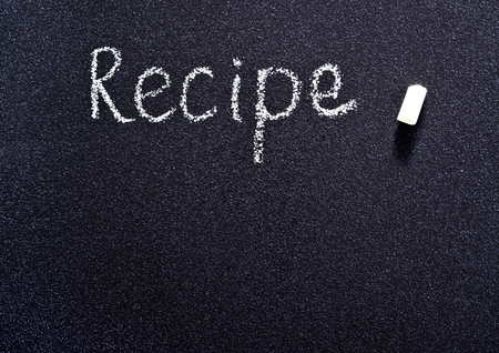 recipe background: black board for recipe