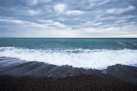wavely: storm on the sea, sea and sky Stock Photo
