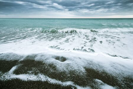 storm on the sea, sea and sky Stock Photo
