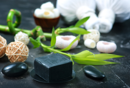 spa objects: Spa objects on a table