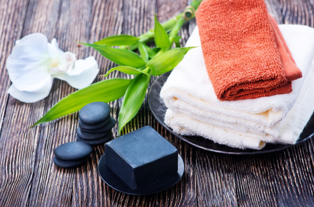 spa objects: Spa objects on a table, objects for massage